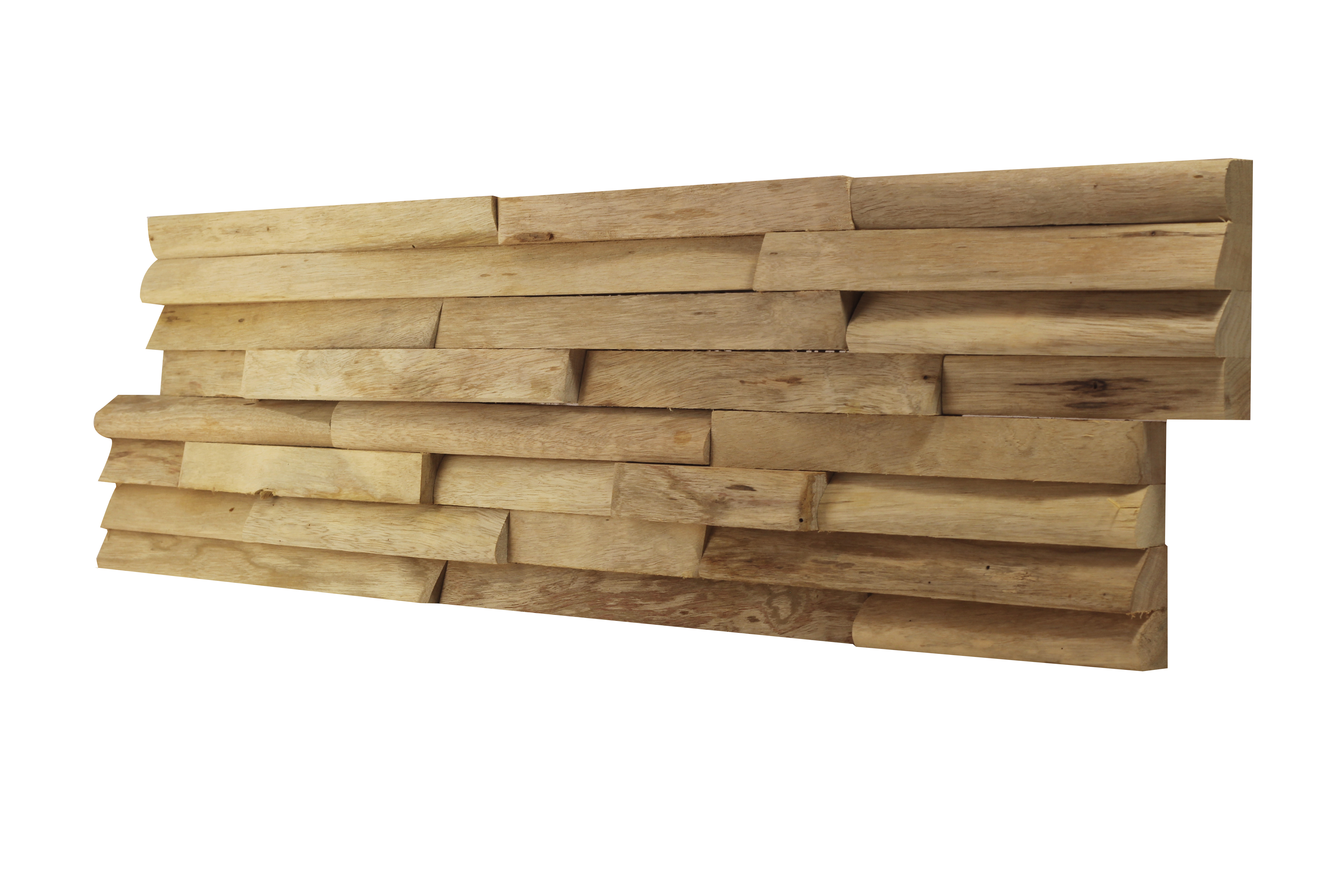 Mur 3d En Bois Massif Recycl Limba Natura By Claddywood