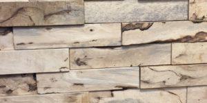 bois recyclé mur 3D