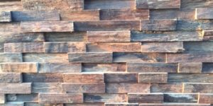 Parement mural 3D bois