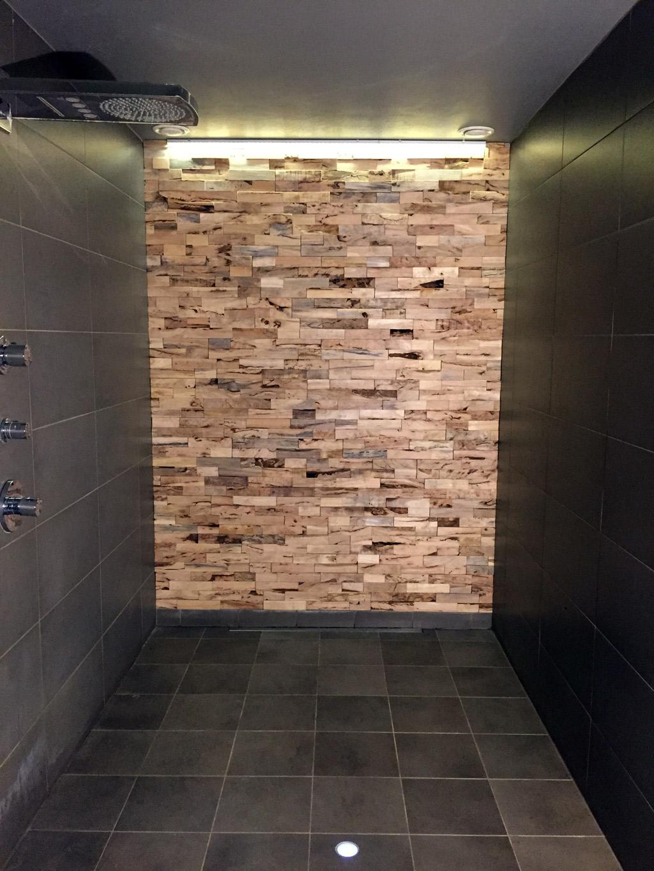 Parement mural bois cologique et design heveo - Parement bois mural interieur ...