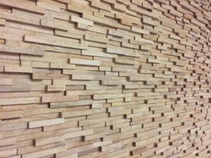 Decoration parement mural bois massif bois habitat - Parement mural bois adhesif ...